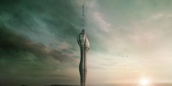 Çamlıca Kulesi'nin anteni monte ediliyor