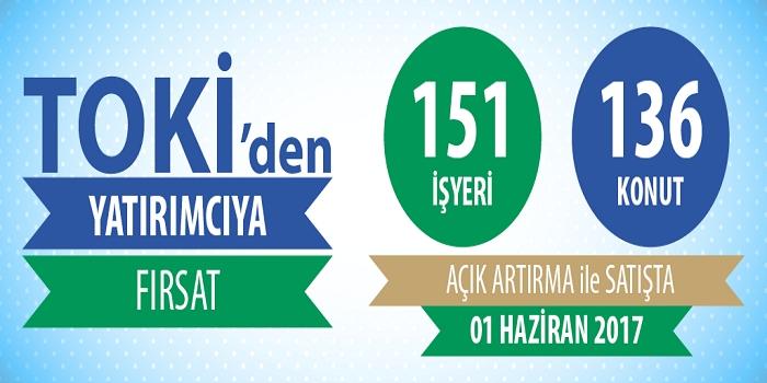 TOKİ'den satılık 151 iş yeri ve 136 konut