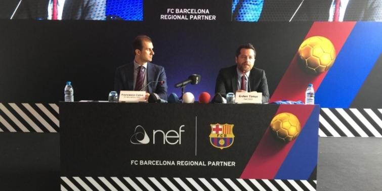 FC Barcelona'nın yeni sponsoru Nef