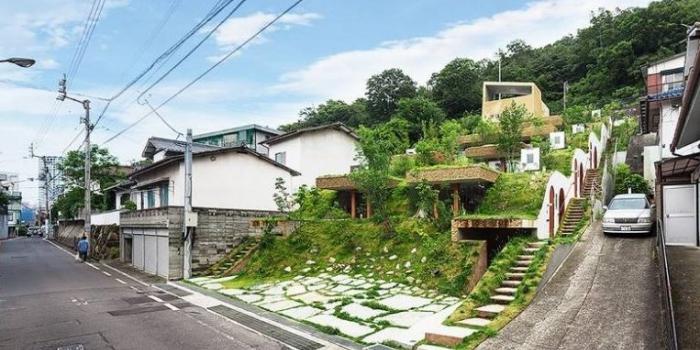 Japon mimardan mini yeşil site