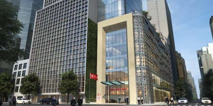 Türkiye resmi kurumları için New York'a lale şeklinde bina