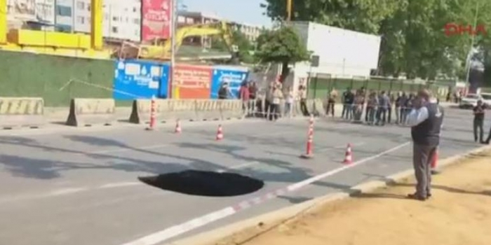 Beşiktaş'ta çöken yol için İBB'den açıklama