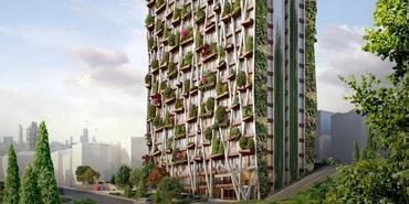 Bu bina yılda 2.373 küp oksijen üretecek