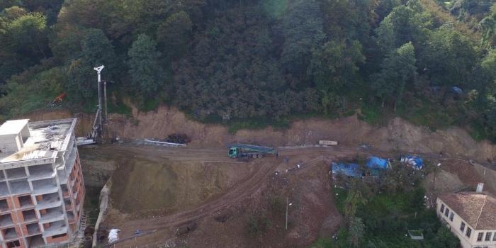 Trabzon'un kayan mahallesine müdahale başladı
