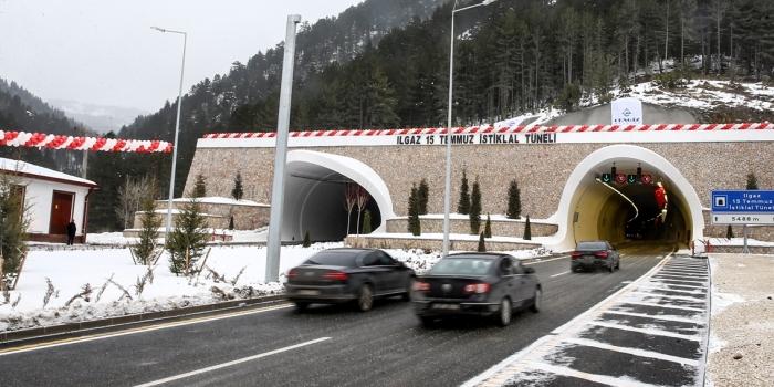 Ilgaz Tüneli'nden 1 yılda 1.2 milyon araç geçti