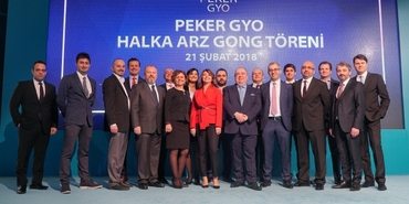 Peker GYO için Borsa İstanbul'da Gong töreni düzenlendi
