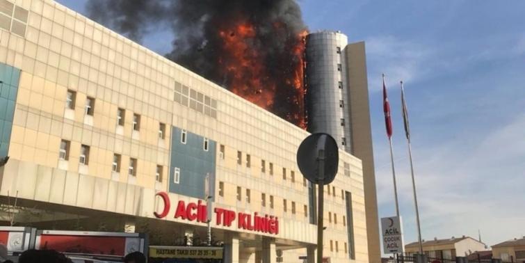 Tüm hastanelerde yangın riski denetlenmeli