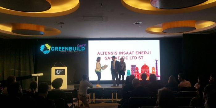 Avrupa'nın En Önemli Yeşil Bina Etkinliğinde Altensis'e ödül