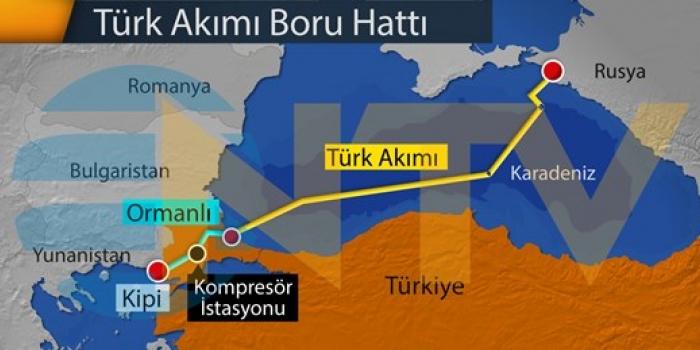 Türk Akımı projesinin yüzde 80'i tamam