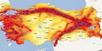 Türkiye Deprem Bölgeleri Haritası!