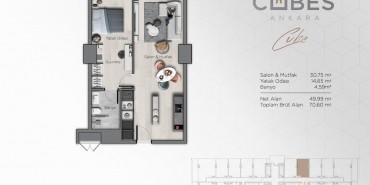 Cubes Ankara Kat ve Daire Plan Resimleri-3