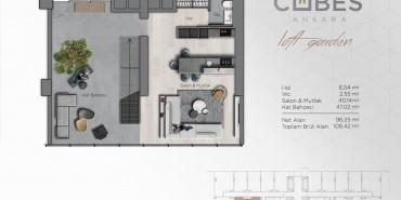 Cubes Ankara Kat ve Daire Plan Resimleri-11