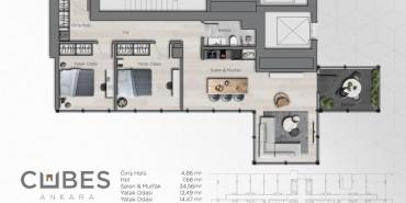 Cubes Ankara Kat ve Daire Plan Resimleri-9