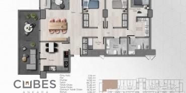 Cubes Ankara Kat ve Daire Plan Resimleri-21