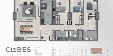 Cubes Ankara Kat ve Daire Plan Resimleri-16