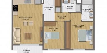 Yenitepe İzmir Kat ve Daire Plan Resimleri-5