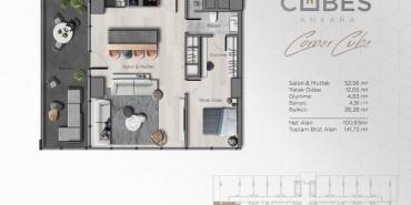 Cubes Ankara Kat ve Daire Plan Resimleri-5