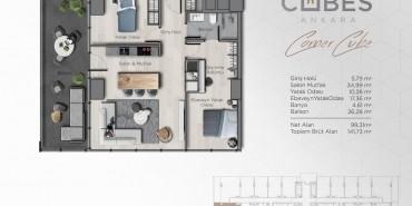 Cubes Ankara Kat ve Daire Plan Resimleri-14