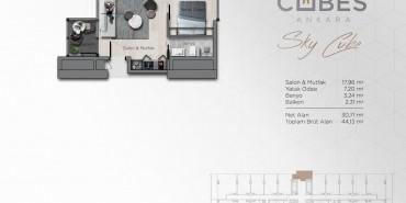 Cubes Ankara Kat ve Daire Plan Resimleri-2