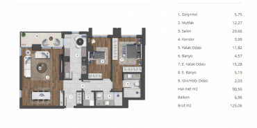 Eston Şehir Mahallem Kat ve Daire Plan Resimleri-26