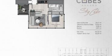Cubes Ankara Kat ve Daire Plan Resimleri-1