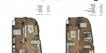 Ons İncek Residence Kat ve Daire Plan Resimleri-7