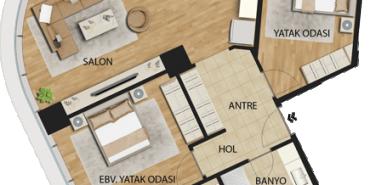 Uplife Kadıköy Kat ve Daire Plan Resimleri-8