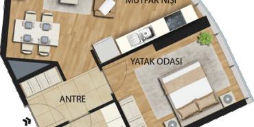 Uplife Kadıköy Kat ve Daire Plan Resimleri-6