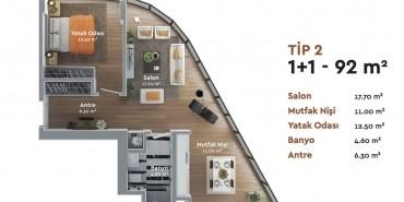Nivo Ataköy Kat ve Daire Plan Resimleri-5