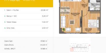 Arena 24 Kat ve Daire Plan Resimleri-1