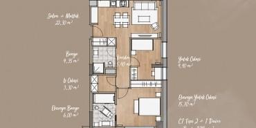 Antwell Life Care Residence Kat ve Daire Plan Resimleri-8