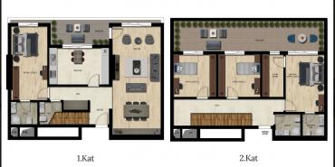 Downtown Bursa Kat ve Daire Plan Resimleri-11