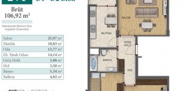 Konakkale Bosphorus Kat ve Daire Plan Resimleri-5