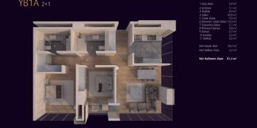 Incek Loft Kat ve Daire Plan Resimleri-4