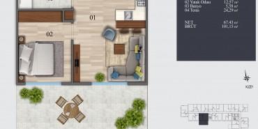 İva Flats Kağıthane Kat ve Daire Plan Resimleri-11