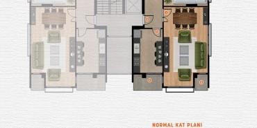 Alya Penta Kat ve Daire Plan Resimleri-2