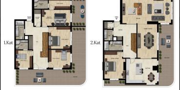 Downtown Bursa Kat ve Daire Plan Resimleri-13