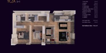 Incek Loft Kat ve Daire Plan Resimleri-9