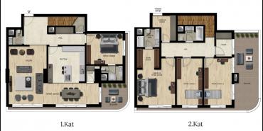 Downtown Bursa Kat ve Daire Plan Resimleri-10