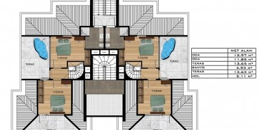 Işın Residence Kat ve Daire Plan Resimleri-3