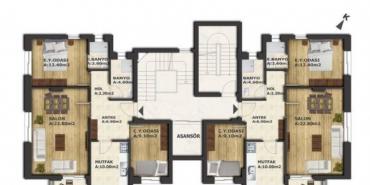 Renk Residence Kat ve Daire Plan Resimleri-1