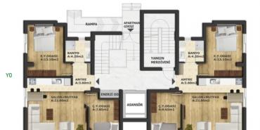 Renk Residence Kat ve Daire Plan Resimleri-2
