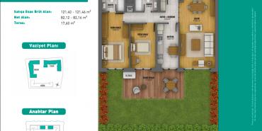3S Firuze Konakları Kat ve Daire Plan Resimleri-16