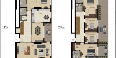 Downtown Bursa Kat ve Daire Plan Resimleri-14