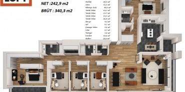 Bulvar Loft Kat ve Daire Plan Resimleri-16