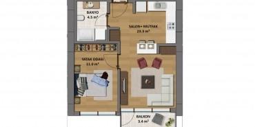 Çukurova Balkon Kat ve Daire Plan Resimleri-1