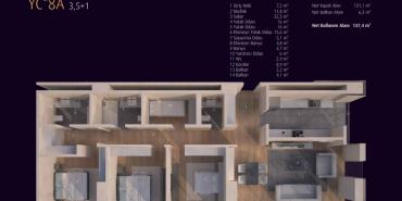 Incek Loft Kat ve Daire Plan Resimleri-12