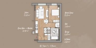 Antwell Life Care Residence Kat ve Daire Plan Resimleri-5