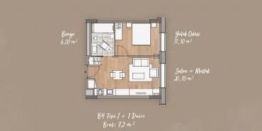 Antwell Life Care Residence Kat ve Daire Plan Resimleri-7