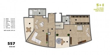 Koşuyolu Koru Evleri Kat ve Daire Plan Resimleri-21